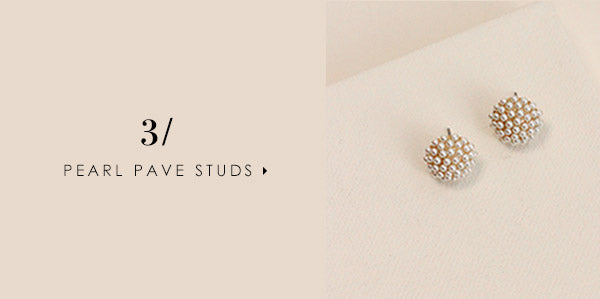 5 stud earrings you can wear every day: Pearl Pave Studs