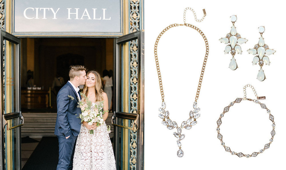 Wedding Jewelry for City Hall Brides