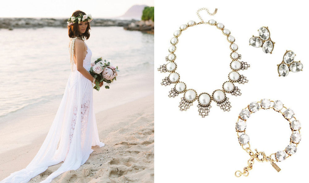 Wedding Jewelry for Tropical Brides, Destination Weddings