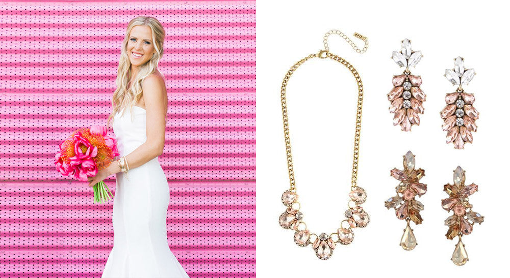 Wedding Jewelry with a Pop of Color