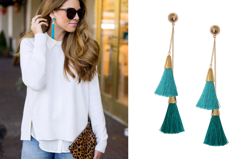 5 Ways to Wear Tassel Earrings for Fall: Work Appropriate
