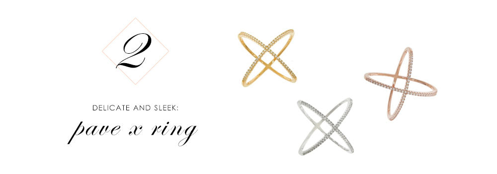 8 Pieces of Jewelry You Need Right Now: Pave X Criss Cross Ring
