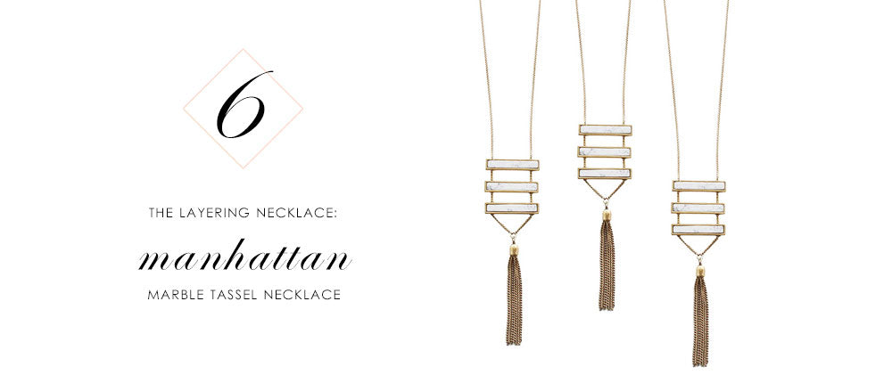8 Pieces of Jewelry You Need Right Now: Manhattan Marble Long Tassel Necklace