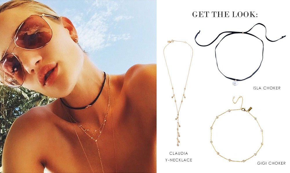 Get the Look: Rosie Huntington Whiteley | olive + piper Chokers
