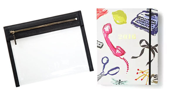 Clarity Clutch and Kate Spade Agenda
