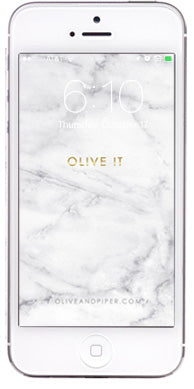 olive + piper Marble Wallpaper for your Phone: Olive It