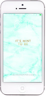olive + piper Marble Wallpaper for your Phone: Mint to Be