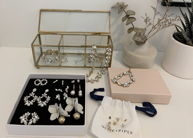 How the olive + piper team organizes their jewelry