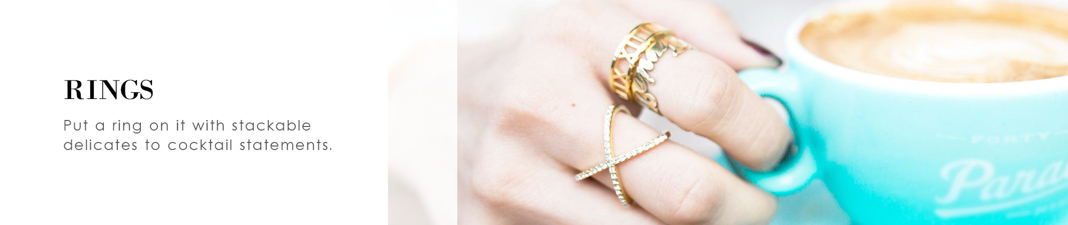 Stacking Rings and Statement Rings | olive + piper