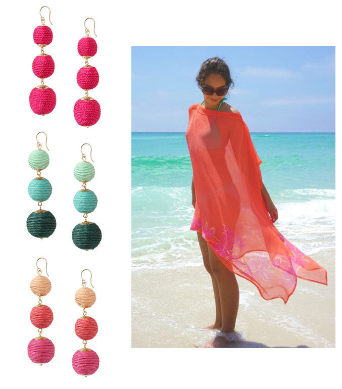 5 Ways to Wear the Trio Drops: Beach Wear