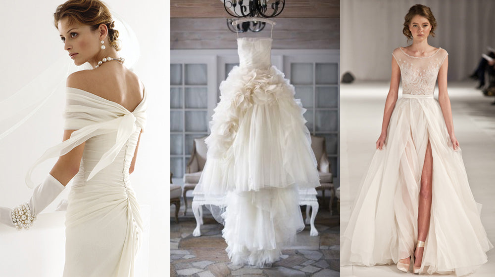 How to Pick the Perfect Wedding Jewelry for your Dress: Ivory Dresses
