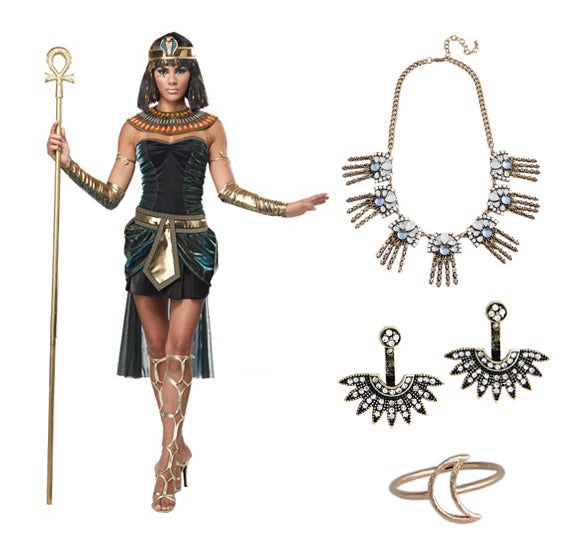 4 EASY HALLOWEEN COSTUMES WITH JEWELRY: EGYPTIAN GODDESS