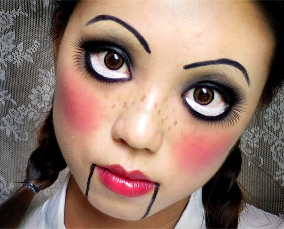 5 Easy Make-Up Looks for Halloween: Doll