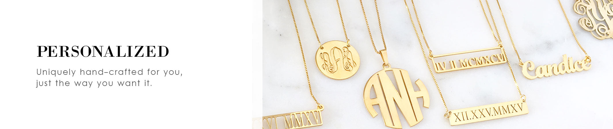 Personalized and Custom Monogram, Initial and Nameplate Jewelry | olive + piper