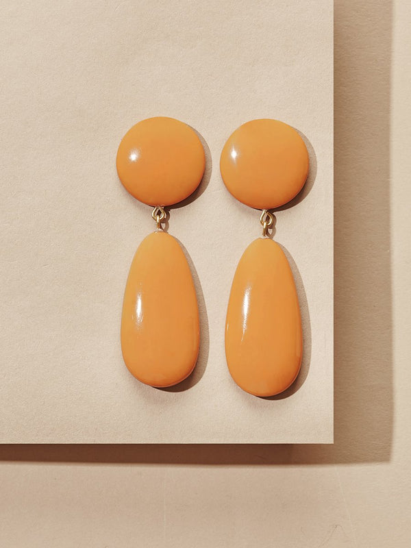 olive + piper York Resin Drop Earrings - Mustard