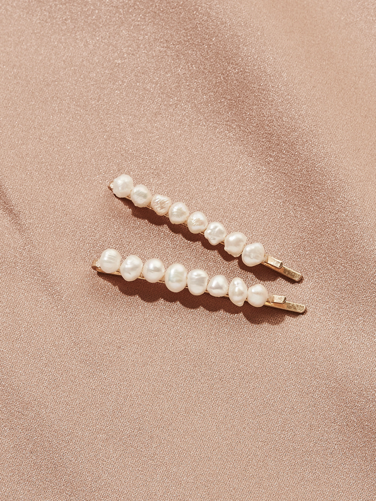 Tuset Freshwater Pearl Bobby Pins (Set of 2)