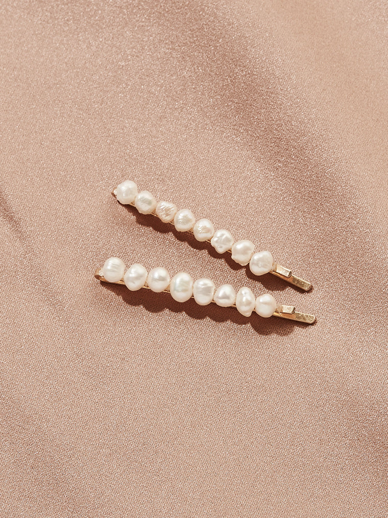 Tuset Pearl Bobby Pins (Set of 2)