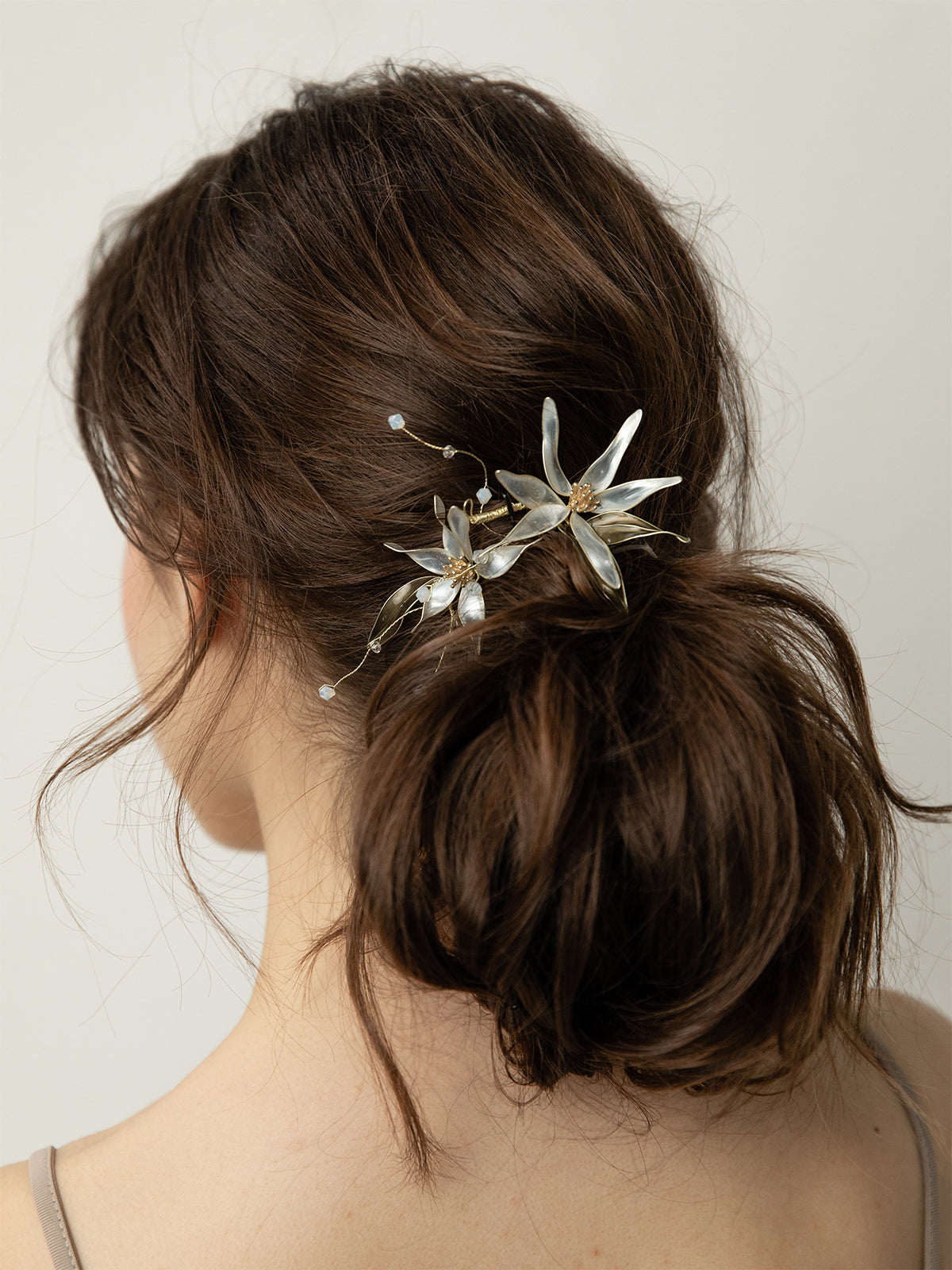 olive + piper Daphne Hand-Painted Floral Headpiece