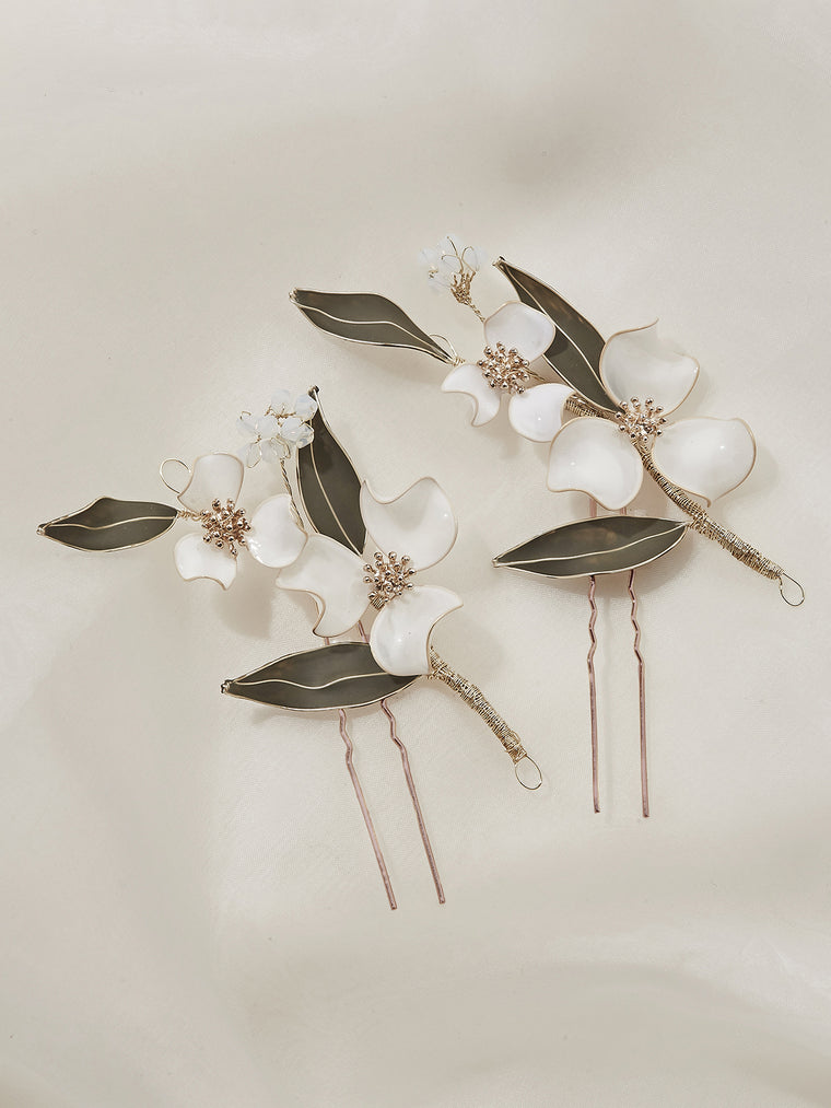 Lorelle Floral Hair Pins (Set of 2)