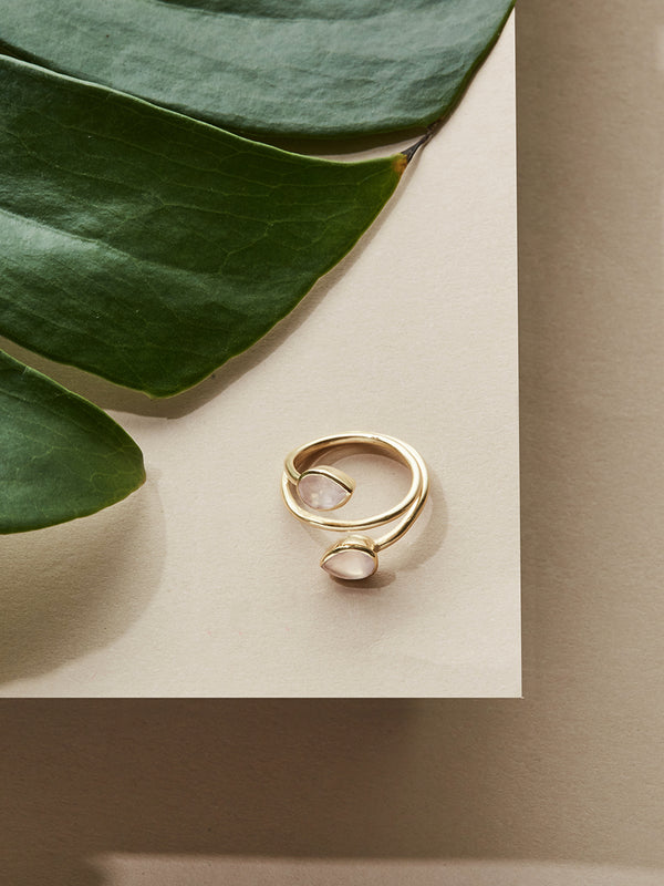 olive + piper Moonstone Quartz Ring