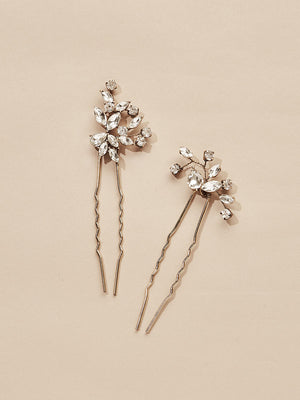 Load image into Gallery viewer, olive + piper Hudson Crystal Hair Pins (Set of 2)