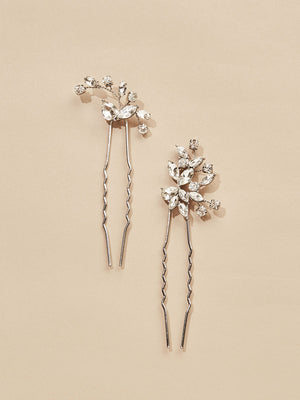 Load image into Gallery viewer, olive + piper Hudson Bridal Hair Pins (Set of 2)