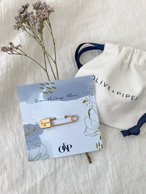 olive + piper Something Blue Wedding Pin