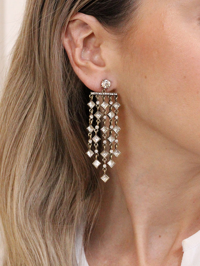 Adeline Chandelier Drop Earrings - fashion crystal earrings