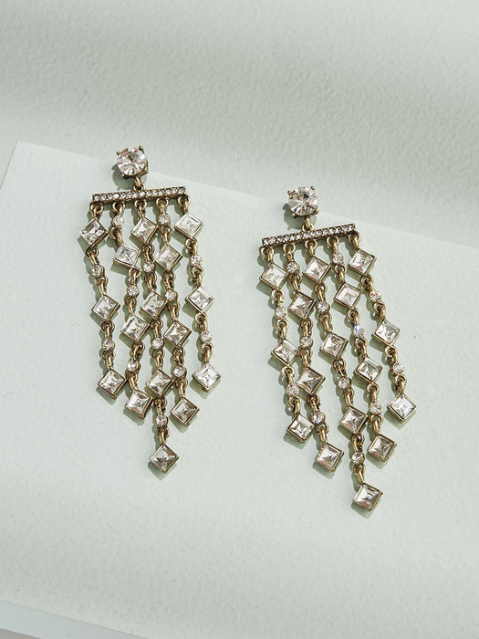 Adeline Chandelier Drop Earrings - olive + piper vancouver