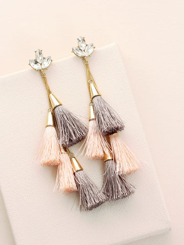 Ally Jewel Tassel Drop Earrings | olive + piper x Gumboot Glam