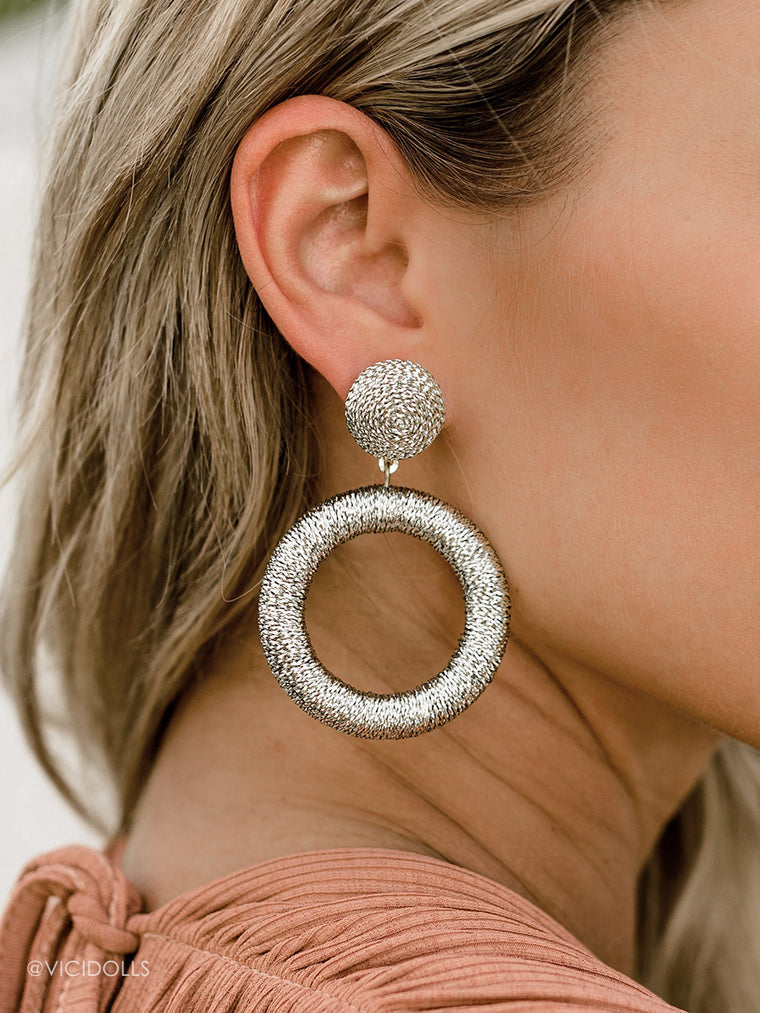 Gold Drop Earrings - Fashion Jewelry Hoop Earrings
