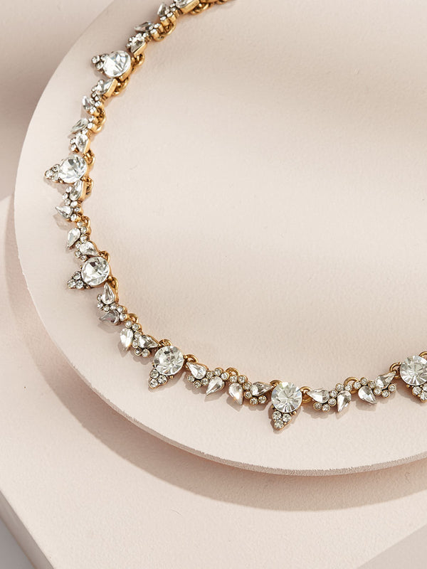 olive + piper Aurora Crystal Statement Necklace
