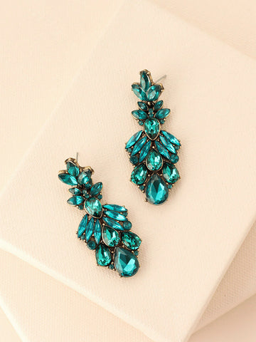 olive + piper Ava Emerald Earrings