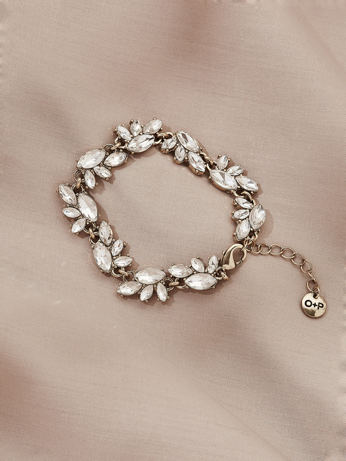 olive + piper Edna Crystal Statement Bracelet