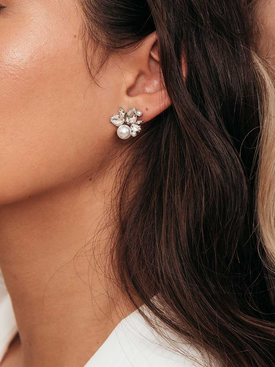 olive + piper Bordeaux Stud Earrings
