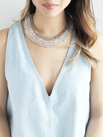 olive + piper Charlotte Beaded Collar Necklace