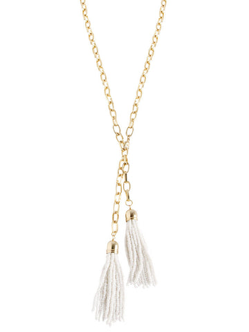 olive + piper Claire Convertible Tassel Necklace