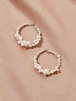 olive + piper Cruz Pearl Hoop Earrings