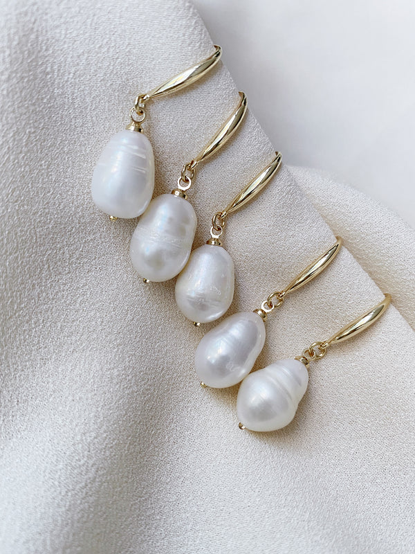 olive + piper Prado Freshwater Pearl Drop Earrings