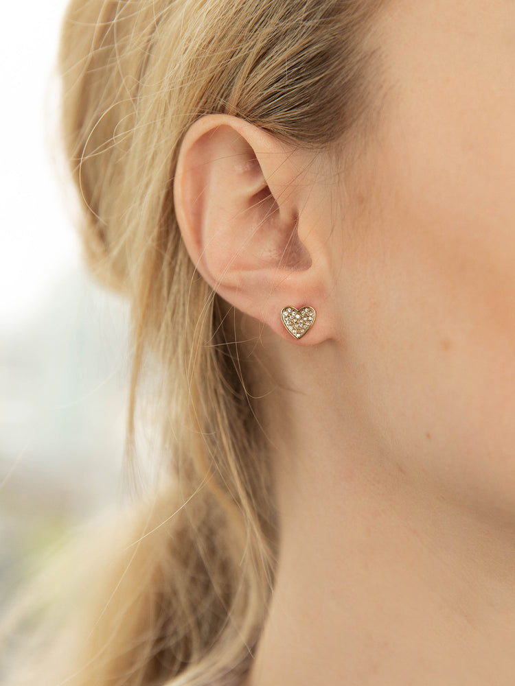 olive + piper Heart Stud Earrings