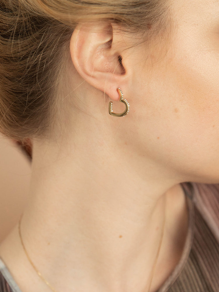 olive + piper Heart Shaped Hoops