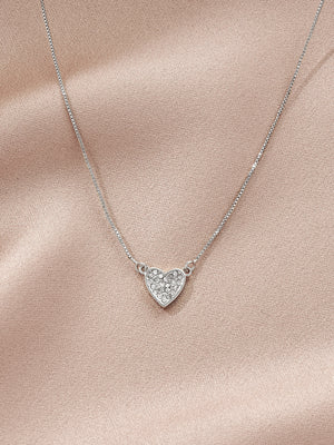 Load image into Gallery viewer, olive + piper Pave Heart Pendant