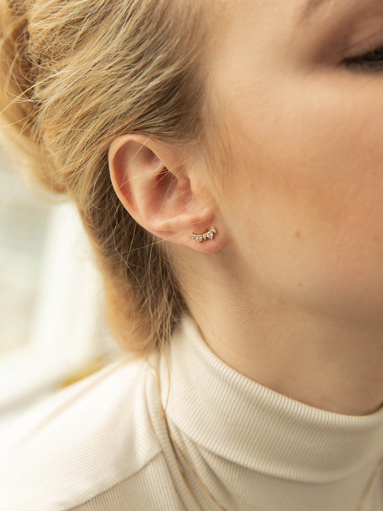 Load image into Gallery viewer, olive + piper Leda Stud Earrings