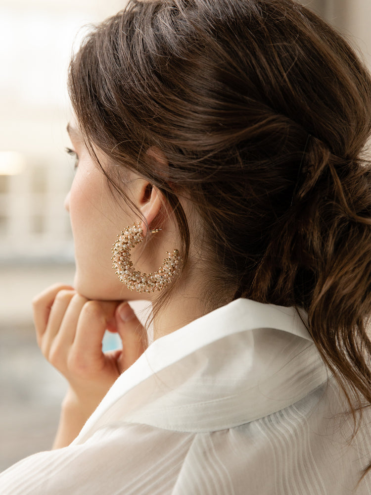 olive + piper Phila Statement Hoop Earrings
