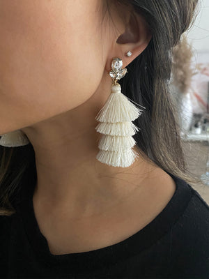 Load image into Gallery viewer, olive + piper Toulouse Tassel Earrings
