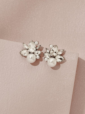 Load image into Gallery viewer, olive + piper Bordeaux Stud Earrings