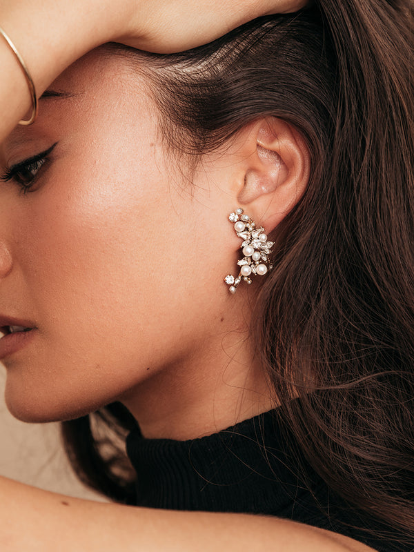 olive + piper Monaco Pearl Statement Earrings
