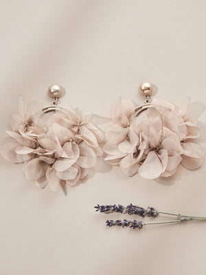 olive +piper Malva Floral Hoop Earrings