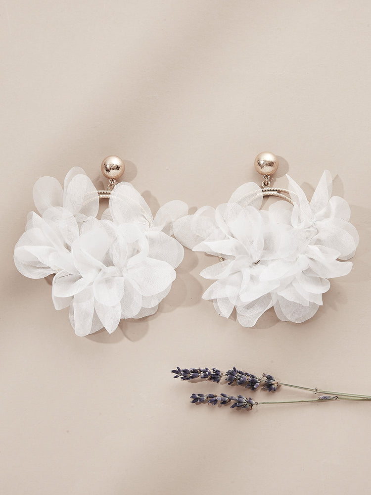 olive + piper Malva Floral Hoop Earrings