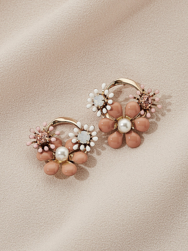 olive + piper Santiago Floral Stud Earrings